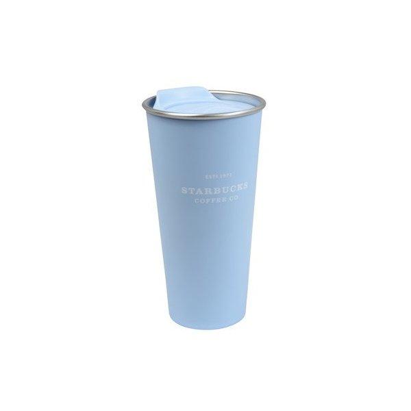 Starbucks スターバックス 海外 フィリピン限定 パステルコレクション ステンレス TOGO タンブラー ブルー(セリーンブルー)  ダブルウォール 473ml 桜