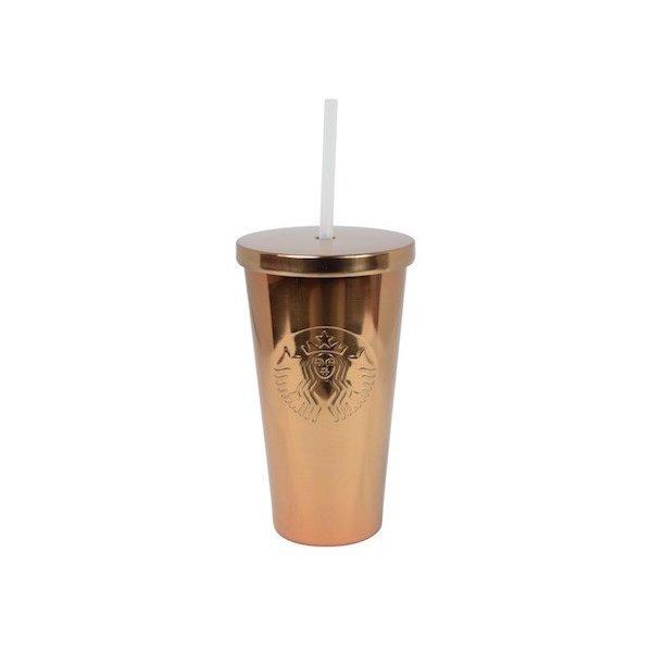 Starbucks スターバックスフィリピン ステンレス コールドカップ 銅コパー ストロー付き 海外限定 レア商品