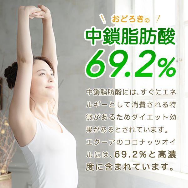 驚きの中鎖脂肪酸69.2%